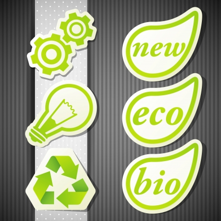 set of eco labels Vector