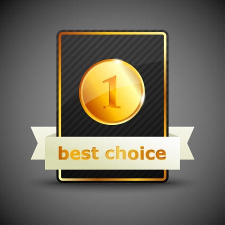 high quality: best choice illustration label