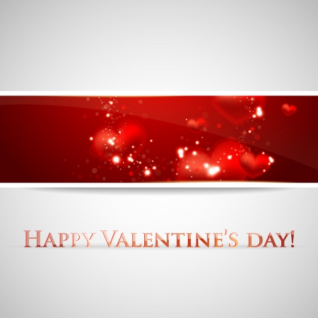 Valentine�s Day background with hearts Vector