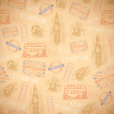 english vintage retro background Vector