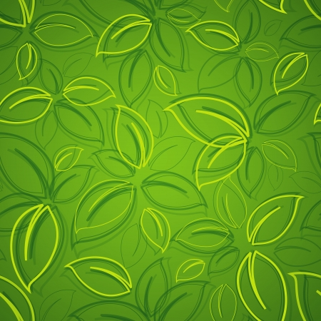 green leaf: seamless background with green leaves Illustration