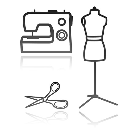tailor s equipment Vector