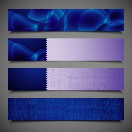 set of blue banners Stock Vector - 18826179
