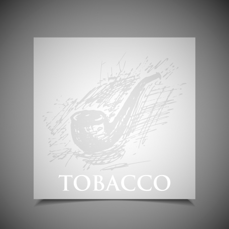 tobacco product: background with tobacco pipe
