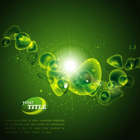 abstract green background Stock Vector - 18826177