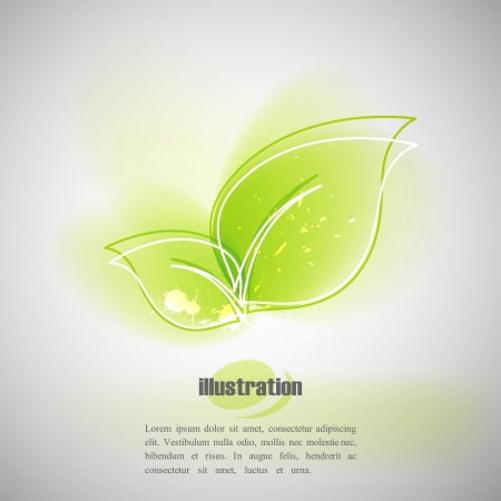 background with green leaves Stock Vector - 18826019