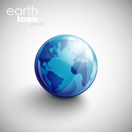 background with globe icon  Vector