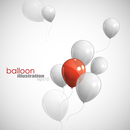 red balloons: background with balloons