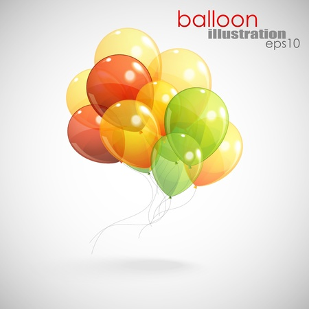 background with a bunch of multicolored balloons  Vector