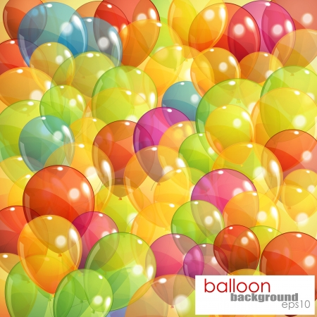 background with multicolored transparent balloons Stock Vector - 18858096