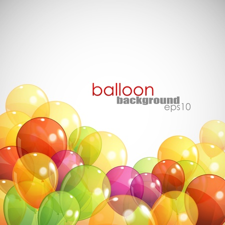 free holiday background: background with multicolored balloons