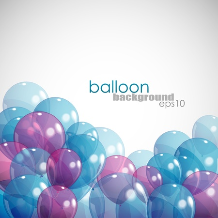 levitation: background with balloons