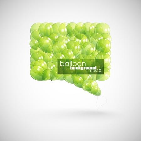 green balloon speech bubble Stock Vector - 18858049
