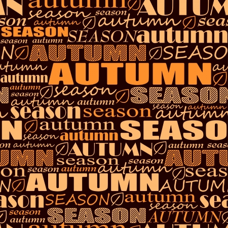 word art: autumn background. seamless pattern with words