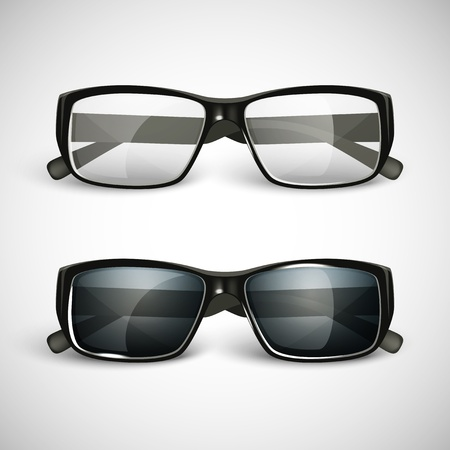 eyewear fashion: Set of sunglasses and eyeglasses
