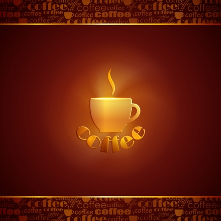 abstract background with coffee cup Vector