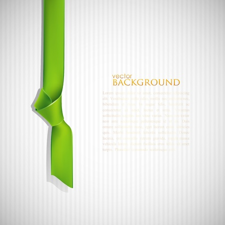 green bow: abstract background with green bookmark Illustration