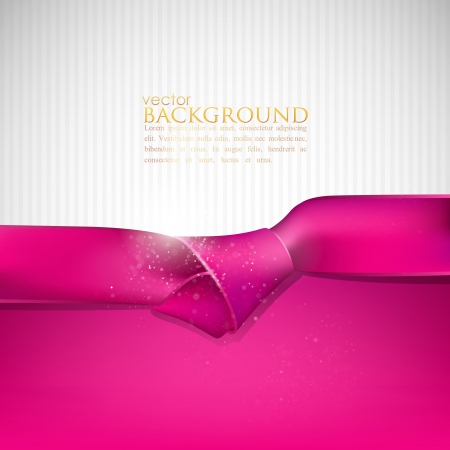 pink satin: abstract background with pink ribbon
