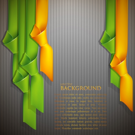 hang tag: abstract background with multicolored ribbons