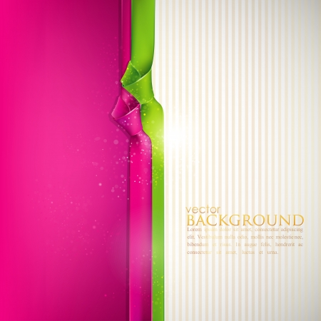 pink satin: abstract background with multicolored ribbons  Illustration