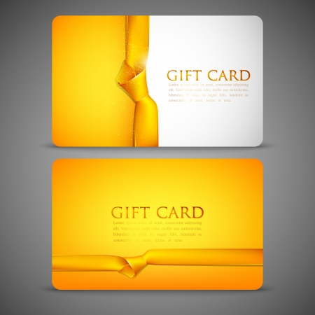 vip: gift cards with yellow ribbons