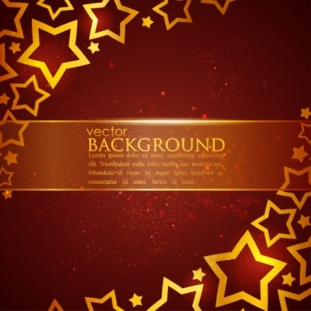 golden color: abstract background with stars