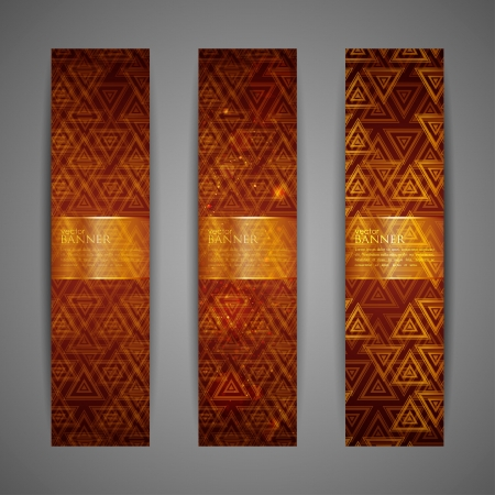 set of brown banners  Vector