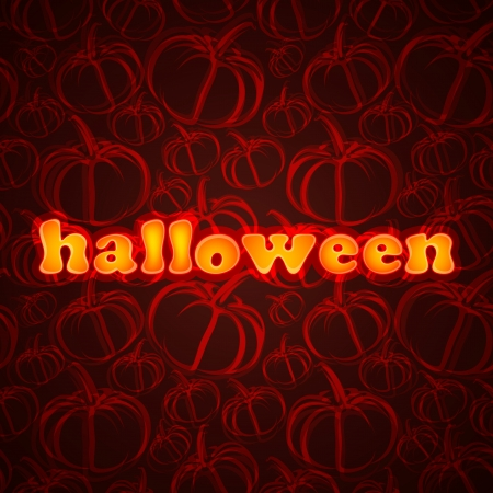 Halloween. Abstract background with pumpkin Vector