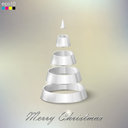 abstract silver Christmas tree Stock Vector - 18925305