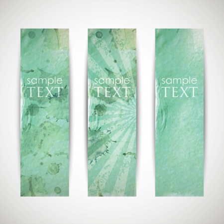 azure: set of azure banners with grunge cardboard texture Illustration