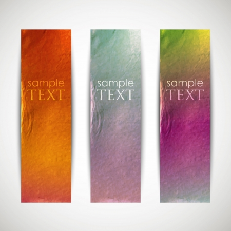 multicolored banners with cardboard texture Stock Vector - 18925229