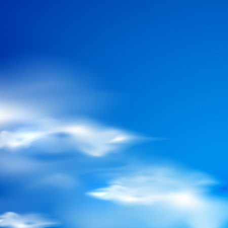 blue sky: abstract background with blue sky and clouds Illustration