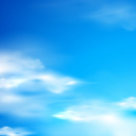 abstract background with blue sky and clouds Vektorové ilustrace