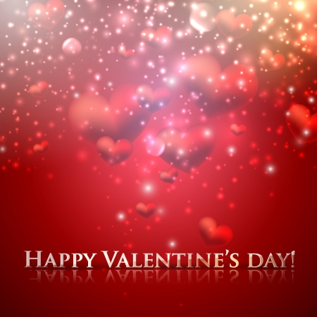 happy valentine's day. holiday background with hearts Vector