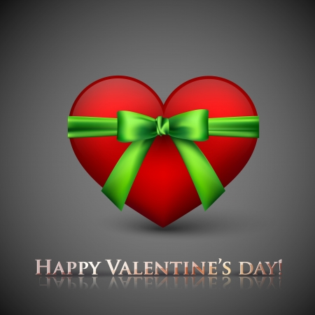 happy valentine�s day. holiday background with heart Stock Vector - 18925222