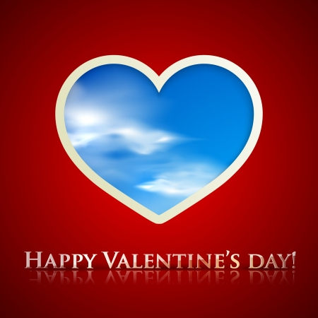happy valentine�s day. holiday background with heart Stock Vector - 18925196