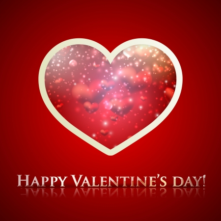 happy valentine�s day. holiday background with heart Stock Vector - 18925256