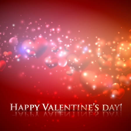 happy valentine�s day. holiday background with hearts Stock Vector - 18925297