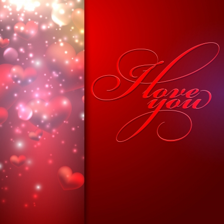I love you. holiday background with hearts Stock Vector - 19715817