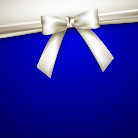 blue bow: blue background with white bow Illustration