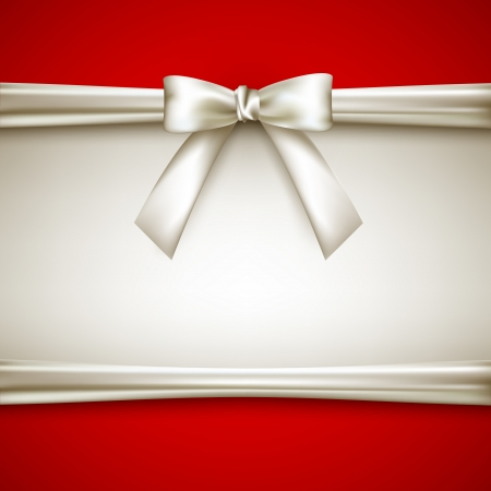 ribbons: background with white bow
