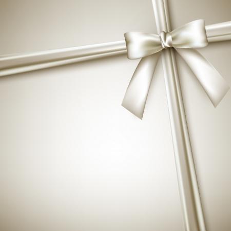 birthday present: elegant background with white bow