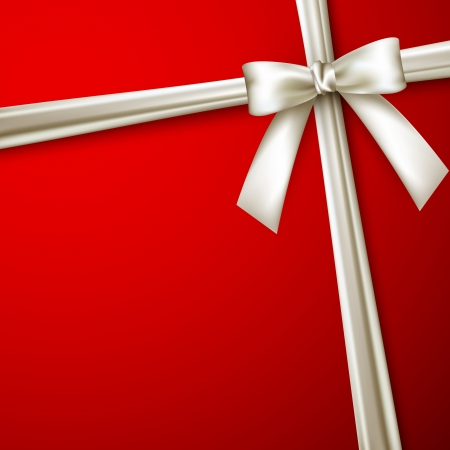 tarjeta de invitacion: elegante fondo rojo con lazo blanco