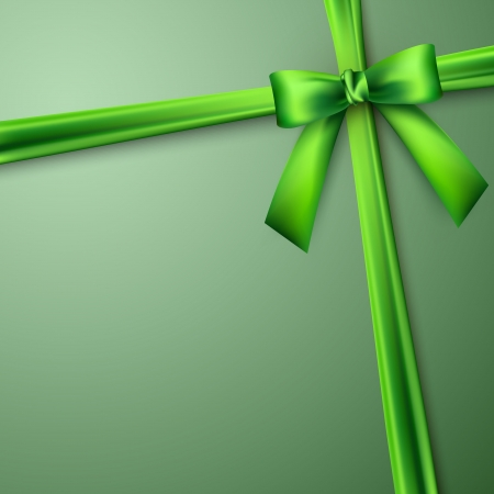 green bow: elegant background with green bow