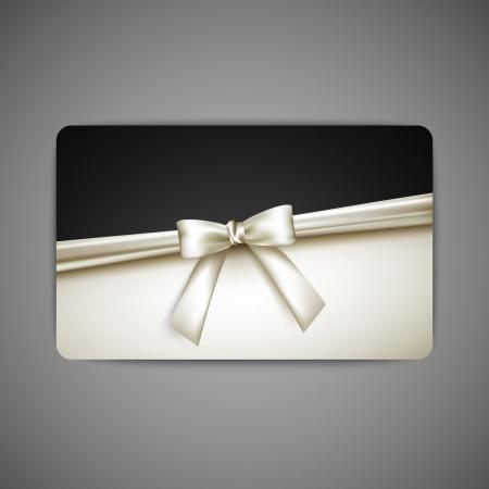 ruban noir: carte cadeau avec un arc blanc et le ruban