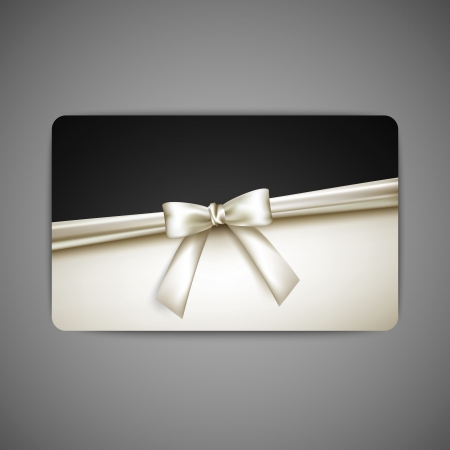 gift card with white bow and ribbon  Stock Vector - 19715748