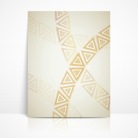 background with golden triangles  brochure template Stock Vector - 21062276