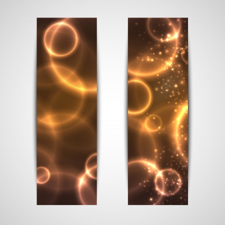 set of abstract glowing banners Vector