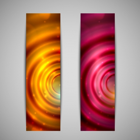 banner effect: set of abstract holiday glowing banners