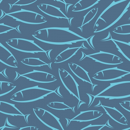 simple fish: seamless background with fish